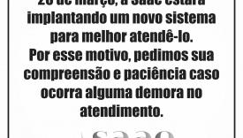 SAAE IMPLANTA NOVO SISTEMA DE ATENDIMENTO