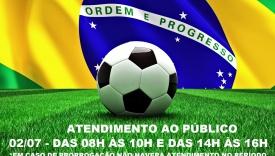 ATENDIMENTO AO PÚBLICO DIA 02/07