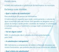 TROCA DE HIDRÔMETROS